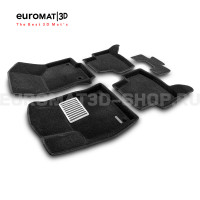 Текстильные 3D коврики Euromat3D Lux в салон для Skoda Octavia A7 (2013-2020) № EM3D-004507