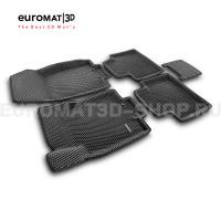3D коврики Euromat3D EVA в салон для Nissan X-Trail (T32) (2015-) № EM3DEVA-003724